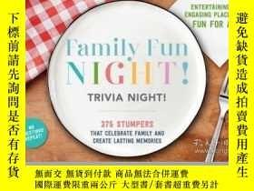 二手書博民逛書店Family罕見Fun Night Trivia Night PlacematsY410016 Cider M
