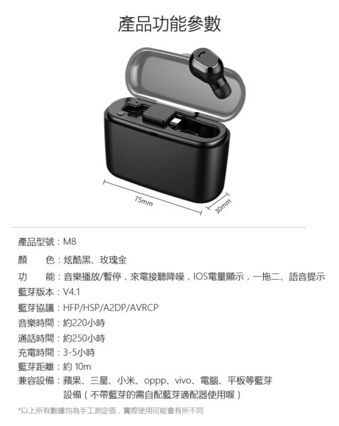【SA0073】*豪華升級版*2200毫安充電艙*隱形藍牙耳機 迷你超小無線藍芽耳機/ 音樂通話開車/