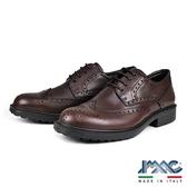 【IMAC】義大利時尚雕花氣墊德比紳士鞋  咖啡(80258-BR)