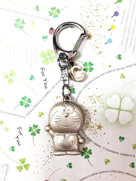 【震撼精品百貨】Doraemon_哆啦A夢~Doraemon鑰匙鎖圈-英文字母C#10723