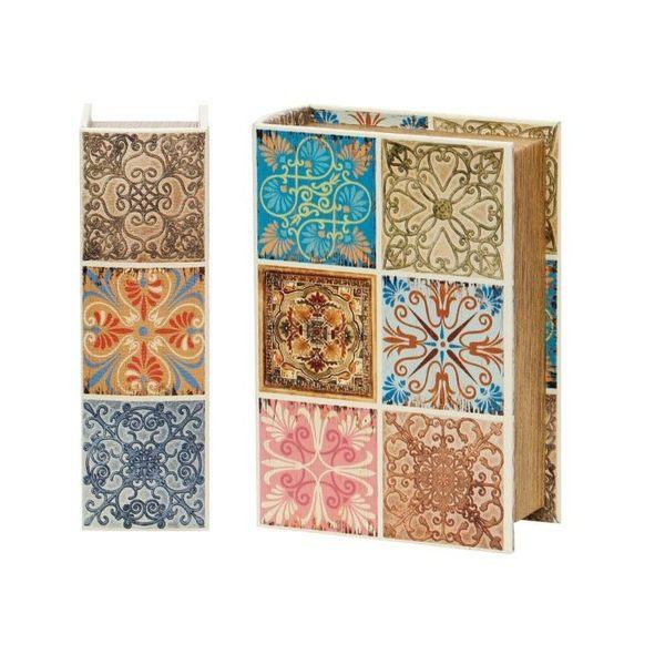 《齊洛瓦鄉村風雜貨》日本zakka雜貨 歐式磁磚風 書本造型 收納盒 收納箱