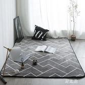 地毯  ins簡約風百搭滿鋪加厚地墊臥室床邊沙發爬爬墊防滑可機洗 KB9051【野之旅】