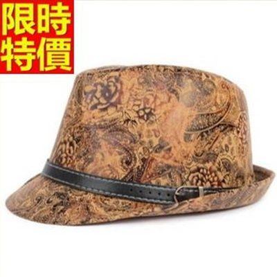 小禮帽-復古花紋紳士款百搭造型潮流男爵士帽3色67e37【巴黎精品】