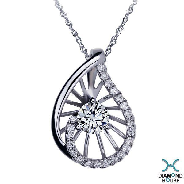 ﹝鑽石屋﹞36分鑽石墜子 葉子造型天然鑽石墜子 DD025097
