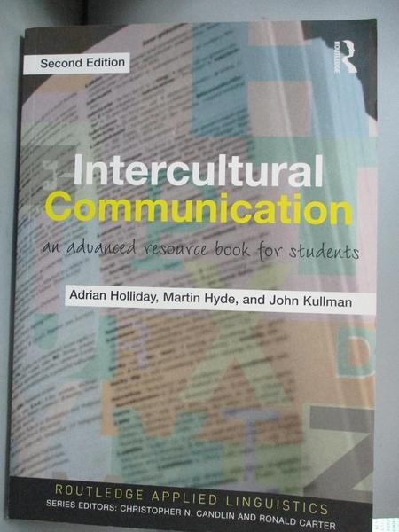 【書寶二手書T1/大學社科_IMP】Intercultural Communication-An Advanced..._Holliday