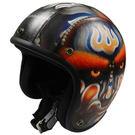 金德恩【台灣製造】限量皮革安全帽(官將首)3/4罩式 合格標識R63555