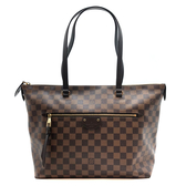 【台中米蘭站】全新品 Louis Vuitton IÉNA 棋盤格紋肩背包-MM (N41013-咖)