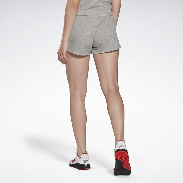 Reebok IDENTITY 女裝 短褲 慢跑 訓練 拉繩 毛巾布 灰【運動世界】GI6594