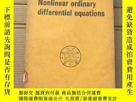 二手書博民逛書店nonlinear罕見ordinary differential equations(P1551)Y17341