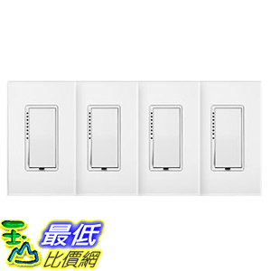 [106美國直購] 調光開關 Insteon Dimmer Switch with Wall Plate 4-Pack A818952