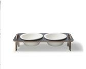 全館83折寵物碗寵物餐桌貓咪食盆斜口保護頸椎陶瓷貓碗狗飯碗