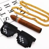 個性仿黃金霸氣大金鏈子項鏈飾品 雪茄玩具裝逼神器  8號店WJ