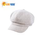 UV100 防曬 抗UV 防風保暖報童帽-女