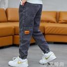 男孩褲子2020新款男童加絨牛仔褲春秋季中大童寬松長褲兒童工裝褲 小艾新品