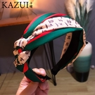 韓國發飾網紅麻花辨子條紋發箍女簡約寬邊發卡綢緞頭箍頭飾品發卡 店慶降價