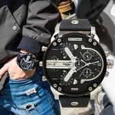 DIESEL The Daddies 低調魅力時區不鏽鋼腕錶/銀黑 DZ7313 熱賣中!
