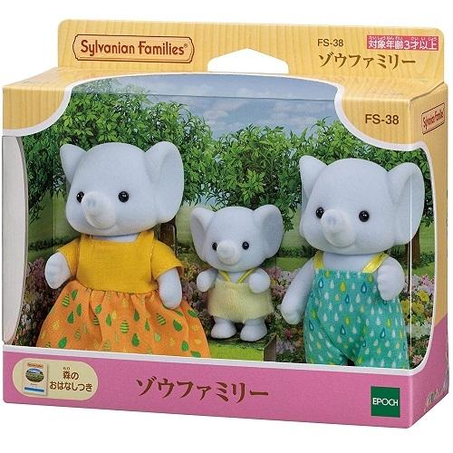 日本 EPOCH 森林家族 大象家庭 人偶組 EP14334