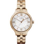 TIMEX 天美時 (TXTW2R28000) 防水 玫瑰金 女錶