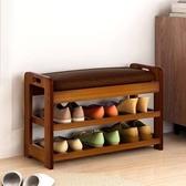 簡約現代穿鞋凳創意沙發凳多功能矮凳可坐儲物凳 實木換鞋凳鞋櫃 莎拉嘿幼
