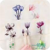 家用創意花朵免打孔無痕強力粘膠門后粘鉤廚房浴室墻壁掛架掛鉤【一條街】