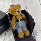 BRAND楓月 PRADA 普拉達 藍色吊帶褲熊熊 銀釦黑皮帶 棕色熊熊 泰迪熊 吊飾 配件 配飾