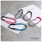 Catworld 亮眼配色編織雙條運動髮帶【17001501】‧F