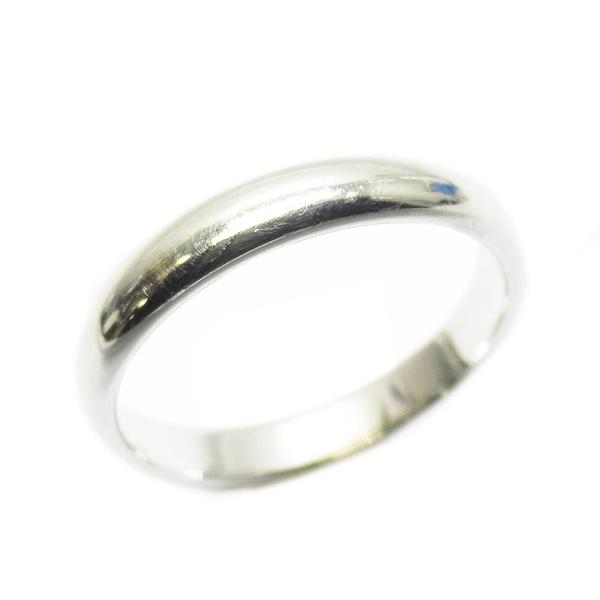 Tiffany & Co 蒂芬妮 簡約造型純銀戒指 10.5號 PT950 【二手名牌 BRAND OFF】