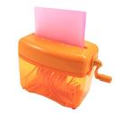 《享亮商城》Q04801 糖果橘色 直碎型手動式碎紙機 ABEL