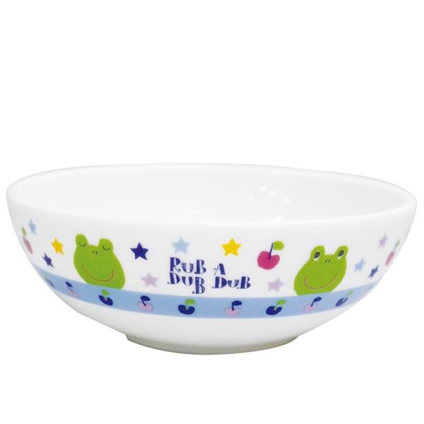【日本製】【Rub a dub dub】輕巧瓷碗 青蛙圖案 SD-9176 - Rubadubdub