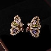 耳環 925純銀鑲鑽-大方淡雅情人節生日禮物女耳針3色73gt226【時尚巴黎】