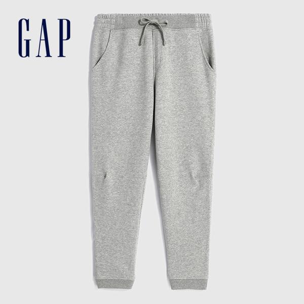 Gap男裝 簡約風格基本款鬆緊針織褲 618887-淺灰色