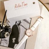情人送禮 RELAX TIME Retro lady 復古甜美小秒針套錶-玫塊金框x白/38mm RT-70-1