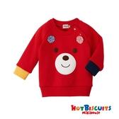 HOT BISCUITS 小熊立體耳朵厚款上衣(紅)