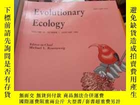 二手書博民逛書店evolutionary罕見ccology vol 1 numb