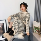 中長版中長版毛衣女過膝寬鬆套頭慵懶風秋裝好康推薦新品針織洋裝甜美小清新