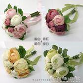 洋牡丹仿真花束 新娘伴娘 手捧花花材 店主推薦 粉色綠色 晴天時尚館