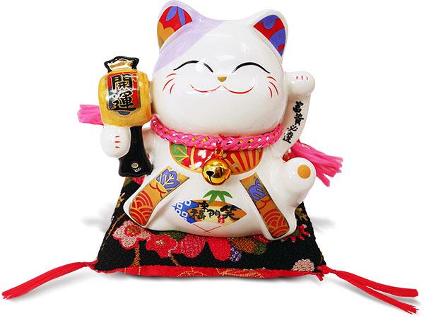 【金石工坊】富貴必達開運貓(高10CM)招財貓 陶瓷開運桌上擺飾 撲滿存錢筒