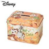 【日本正版】奇奇蒂蒂 鐵盒 存錢筒 小費盒 收納盒 附鑰匙 可上鎖 迪士尼 Disney - 063208