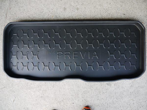 台灣製 周邊加高型 豐田 06年後 PREVIA 專用防水托盤 密合度高 防水材質 後廂墊
