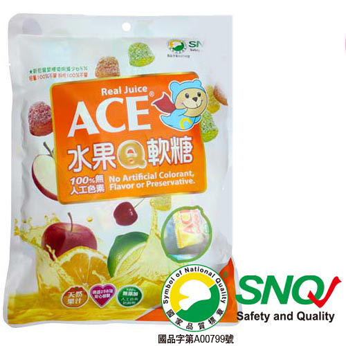 ACE 水果Q軟糖 (240g / 單袋) 比利時製造 【杏一】