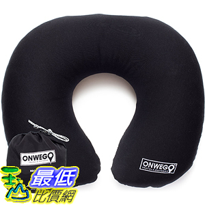 [美國直購] 航空坐飛機用頸枕睡枕枕頭 ONWEGO 5954466 Inflatable U-Shape Neck Travel Pillow - Ultralight