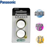 國際牌 CR-2025鋰鈕扣電池 6入
