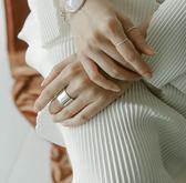 925純銀光面寬版開口戒指  韓版