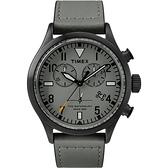 TIMEX X TODD SNYDER 刻劃時代計時皮帶腕錶-黑X灰