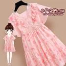 洋裝 女童雪紡洋裝連衣裙夏裝新款碎花公主裙薄款網紅洋氣夏款兒童裙子 快速出貨