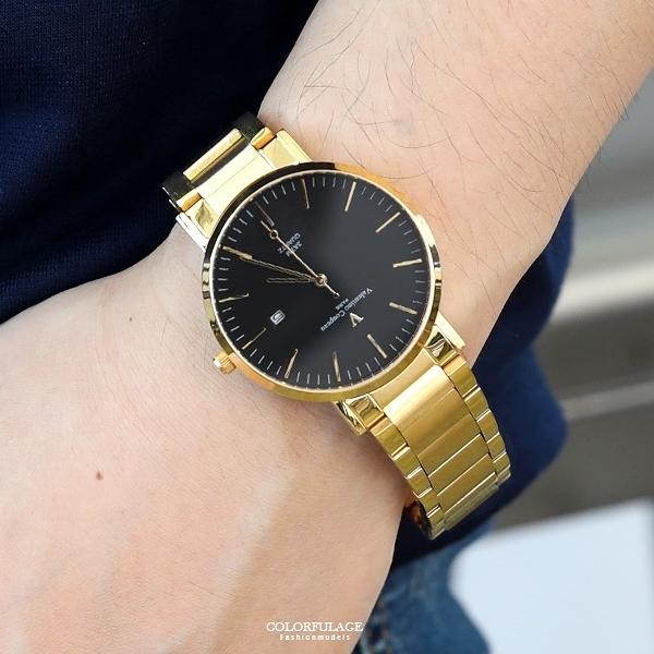 范倫鐵諾˙古柏 金色不鏽鋼錶NEV68