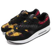 Nike 復古慢跑鞋 Wmns Air Max 1 SE Tartan 黑 紅 黃 格紋 運動鞋 女鞋 男鞋【PUMP306】 AV8219-001