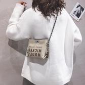上新質感可愛小包包女新款韓版斜背水桶包休閒帆布側背鍊條包新年禮物