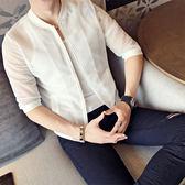 春夏薄網紗7分袖夾克防曬衣中袖鏤空大碼外套半袖防曬服夾克衫男 魔方數碼館