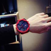 大錶盤手錶男潮流歐美高逼格創意吃雞同款雙機芯日歷個性大氣男錶 名稱家居館